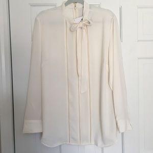 Ralph Lauren Cream pussy bow blouse size 16W